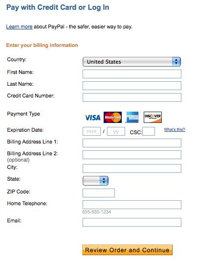 Design Burd Inc.Credit Card Form | Design Burd Inc.